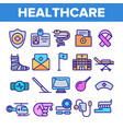 healthcare linear icons set thin pictograph vector image vector image