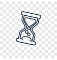 hourglass concept linear icon isolated on vector image