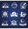 Hunting Design Elements Set vector image vector image