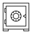 icon safe isolated symbol privacy vector image vector image
