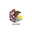 illinois state flag vector image vector image