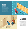 industrial cleaning service vector image
