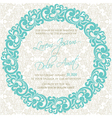 invitation with round floral element vector image vector image