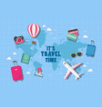 it is travel time vector image