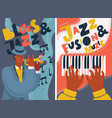 jazz and blues music festival colorful posters vector image