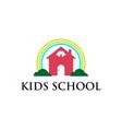 kids school logo vector image vector image