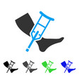 leg and crutch flat icon vector image vector image