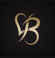 letter b love vector image vector image