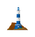 lighthouse or beacon tower nautical searchlight vector image vector image