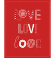 Love greeting card with hand drawn letters vector image