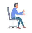 man in jeans and blue t-shirt vector image vector image