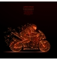 motorcycle racing low poly flame vector image vector image