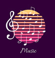 music notes and text notation tablature poster vector image