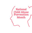national child abuse prevention month april vector image vector image