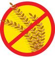 No wheat vector image