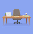 office working place vector image vector image