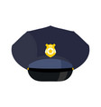 police cap isolated hat cop officer accessory vector image vector image