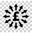 pound money distribution icon vector image vector image