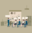 presentation project business people vector image vector image