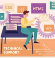 professional operator technical support service vector image vector image