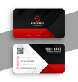 red and black modern business card template vector image vector image