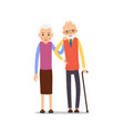 senior couple two aged people stand elderly man vector image vector image
