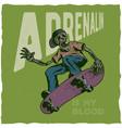 skateboard t-shirt label vector image