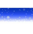 snowflake bg blue vector image vector image