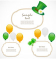 St Patrick day frames vector image