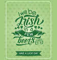 st patrick day green clover leaf greeting banner vector image