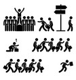standing out of the crowd successful business vector image