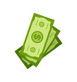 stock dollars isolated investment money cash vector image vector image