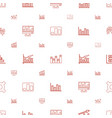 stock icons pattern seamless white background vector image vector image