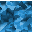 Stone triangle back blue vector image vector image