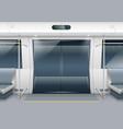 subway car doors vector image