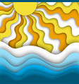 summer beach abstract background with bright and vector image