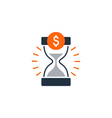 Time is money finance concept bank savings account vector image vector image