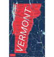 vermont state detailed editable map vector image vector image
