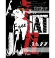 Vintage Jazz Poster Background vector image vector image