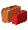 vintage luggage on white background vector image vector image