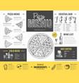vintage pizza menu design restaurant menu vector image vector image