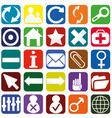 webpage icons collection color interfaces vector image
