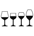 Wine Glasses On a White Background vector image vector image