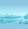 winter fantasy forest landscape with vector image vector image