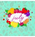 with the image of july labels in vector image vector image