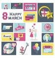 Women Day clip art set vector image