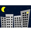 Night in the city - vector image
