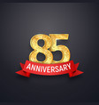 85 th anniversary logo template eighty-five years vector image