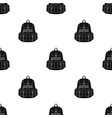 a backpack for thingstent single icon in black vector image vector image