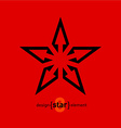 Abstract design element star vector image vector image